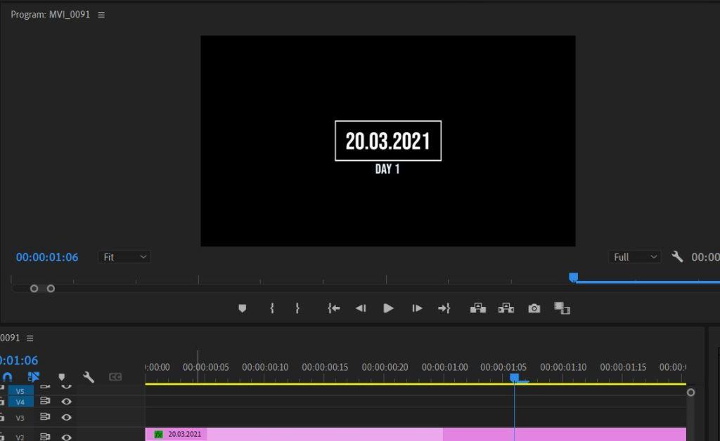 editing pursuit of purpose video on Adobe Premiere Pro